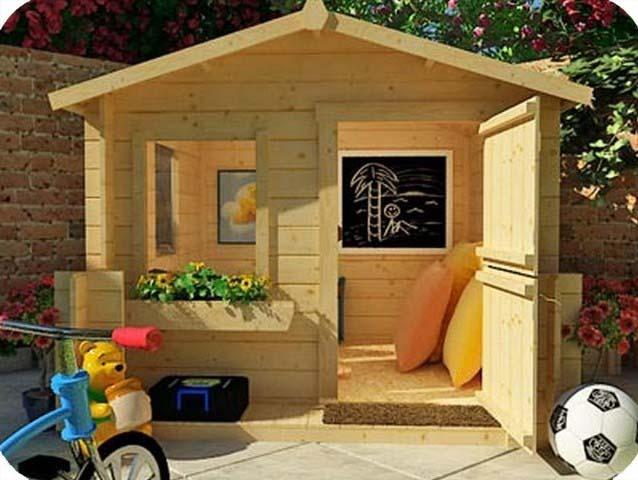 Детский домик своими руками фото на даче
